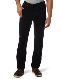 Lee Men's Regular Fit Straight Leg Jean, Double Black, 38W x