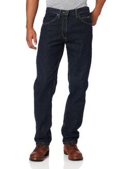Lee Men's Regular Fit Straight Leg Jean, Black Quartz, 29W x