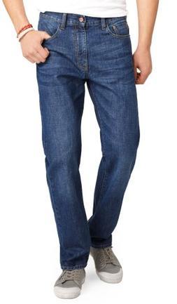 IZOD Men's Regular Fit Straight Leg Jean in Dark Vintage Dar