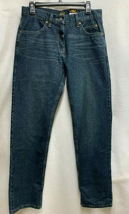 Lee Men's Regular Fit Straight Leg Jean, Double Black, 34W x