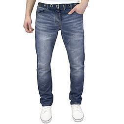 Enzo Regular Fit Straight Leg Jeans King Sizes