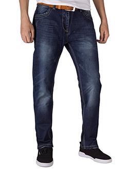 ITALY MORN Men Relaxed Denim Jeans Straight Leg Regular Orig
