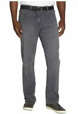 Urban Star Mens Relaxed Fit, Stretch/Straight Leg Jeans, Gre