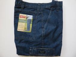 Wrangler Relaxed Fit Cargo Jean 6 Pocket Dark Stone Denim Me