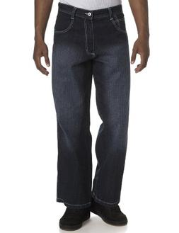 Southpole Men's Relaxed Fit Core Denim, Dark Sand Blue, 38x3