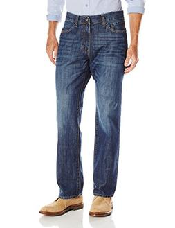 IZOD Men's Relaxed Fit Jean, Medium Vintage, 40x34