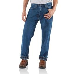 Carhartt Relaxed Fit Straight leg Flannel Lined Jean B172 DS