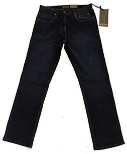 Urban Star Men's Relaxed Fit Straight Leg Jeans Black/Blue