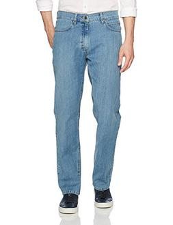 LEE Men's Relaxed Fit Super Strong 5 Pocket Denim, Biff, 40W