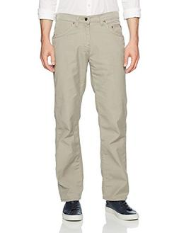 LEE Men's Relaxed Fit Utility, Light Khaki, 34W x 30L