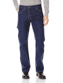 Dickies Men's Relaxed Straight Carpenter Jean, Flex Rinsed I
