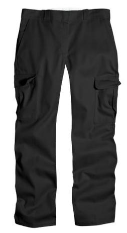 Dickies Men's Relaxed Straight-Fit Cargo Work Pant, Black, 4