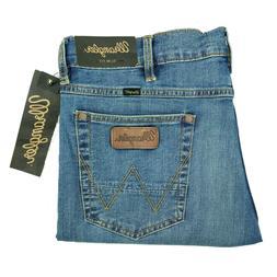 Wrangler Retro jeans mens slim fit straight leg stretch blue