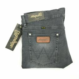 Wrangler Retro jeans mens SLIM FIT straight leg gray stretch