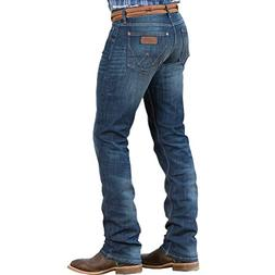 Wrangler Men's Retro Slim Fit Straight Leg Jean, Greenriver,