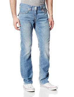 True Religion Men's Ricky Straight Fit Tan Grey and Natural