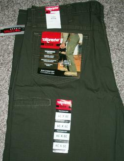 WRANGLER RIGGS Relaxed Fit Brown Rip Stop Ranger Work Jeans