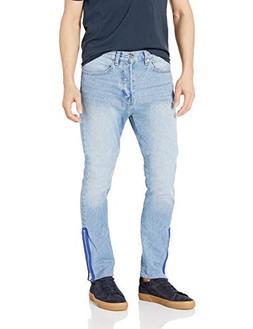 Calvin Klein Men's Rigid Skinny Fit Jeans, Apache Zipper Blu