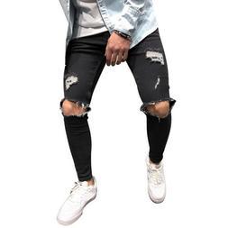 Ripped <font><b>Jeans</b></font> Fashion Man Hole Pencil <fo