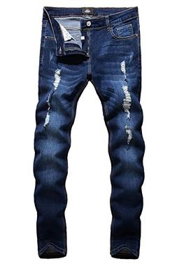 ripped skinny distressed destroyed slim