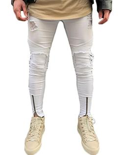 Men's Ripped Skinny Distressed Destroyed Slim Fit Stretch