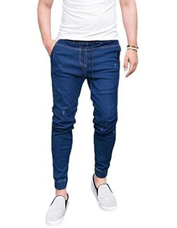 XARAZA Men's Ripped Slim Fit Stretchy Denim Pencil Jeans Pan