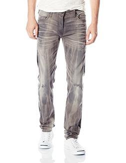 True Religion Men's Rocco Slim Fit Grey Renegade Jean, Reckl