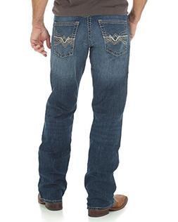 Wrangler Men's Rock 47 Relaxed Boot Cut Dark Wash Jeans Indi