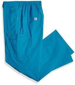 Carhartt Men's Rockwall Cargo Scrub Pant, Teal Blue, Medium