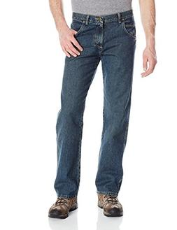 Wrangler Men's Rugged Wear Relaxed Straight Fit Jean,Blue,40