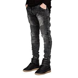 DUJUANNIAO Men New Hot Jeans Runway Soft Slim New Hot Jeans