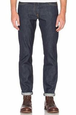 Levi's Strauss 511 Men's Premium Slim Fit Selvedge Denim Blu