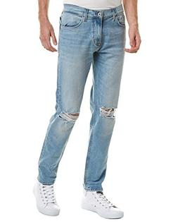 Hudson Jeans Mens Sartor Country Blue Relaxed Skinny Leg, 34