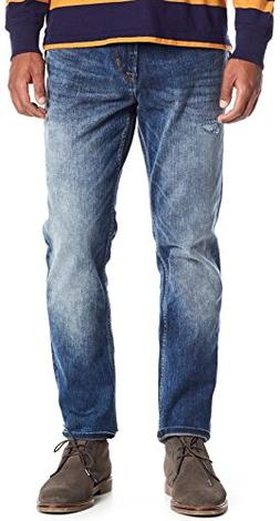 Hudson Jeans Men's Sartor Relaxed Skinny Jeans in Warp Speed