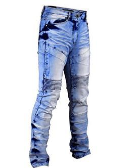 SCREENSHOTBRAND-P41810 Men's Premium Moto Biker Denim Pants