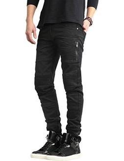 Ma Croix SH Mens Biker Jeans Distressed Denim Pants
