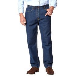 Kirkland Signature Men's 5-Pocket Jeans Relaxed Fit Blue Was