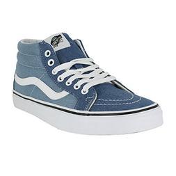 22d17703cd4fe4 Vans Mens SK8 MID Reissue Denim 2 Tone Blue True White Size