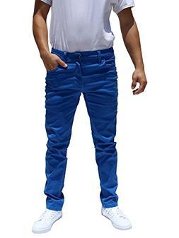 Revol Men's Skinny Fit Color Denim Pants Jeans