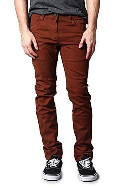 Victorious Men's Skinny Fit Colored Jeans DL937 - Mocha - 28