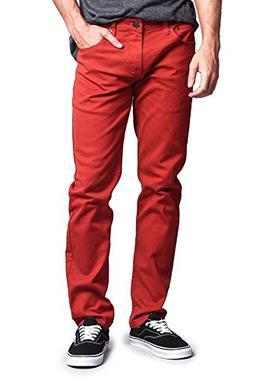 Victorious Men's Skinny Fit Colored Jeans DL937 - BURNT ORAN