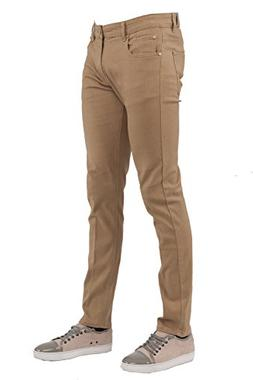 Perruzo Men's Skinny Fit Color Jeans