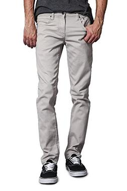 Victorious Men's Skinny Fit Color Stretch Jeans DL937 - GREY