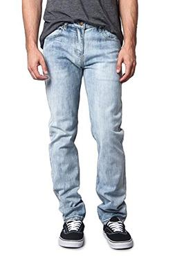 Victorious Men's Skinny Fit Stretch Raw Denim Jeans DL1004 -