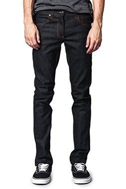 Victorious Mens Skinny Fit Stretch Raw Denim Jeans DL936 - B