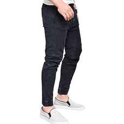 Realdo Mens Skinny Jeans, Stretchy Slim Fit Denim Pants Casu