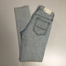 American Eagle Outfitters Skinny Light Wash Jeans Destroyed