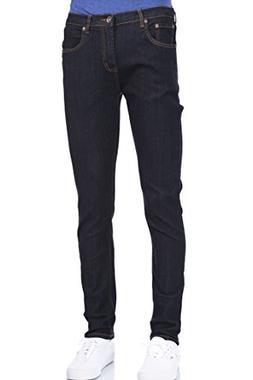 Eagle Men Skinny Super Dark Indigo Blue Stretch Jeans 32W X