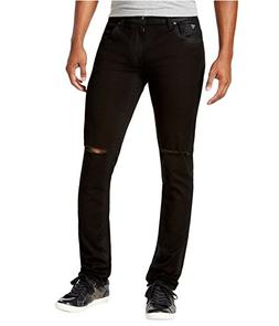 GUESS Men's Skinny Long Night Ride Wask with Slits, Long Nig