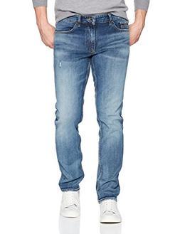 Calvin Klein Men's Slim , Ludlow Blue, 30W x 30L